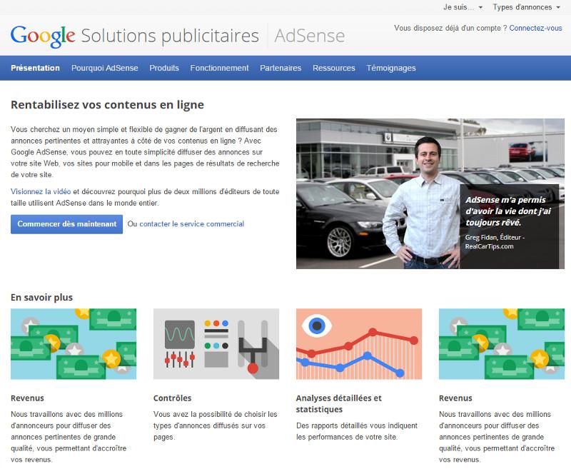 AdSense – Google Solutions publicitaires