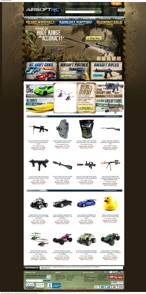 AirsoftRC - Grande sélection d'airsoft et RC Toys à vendre