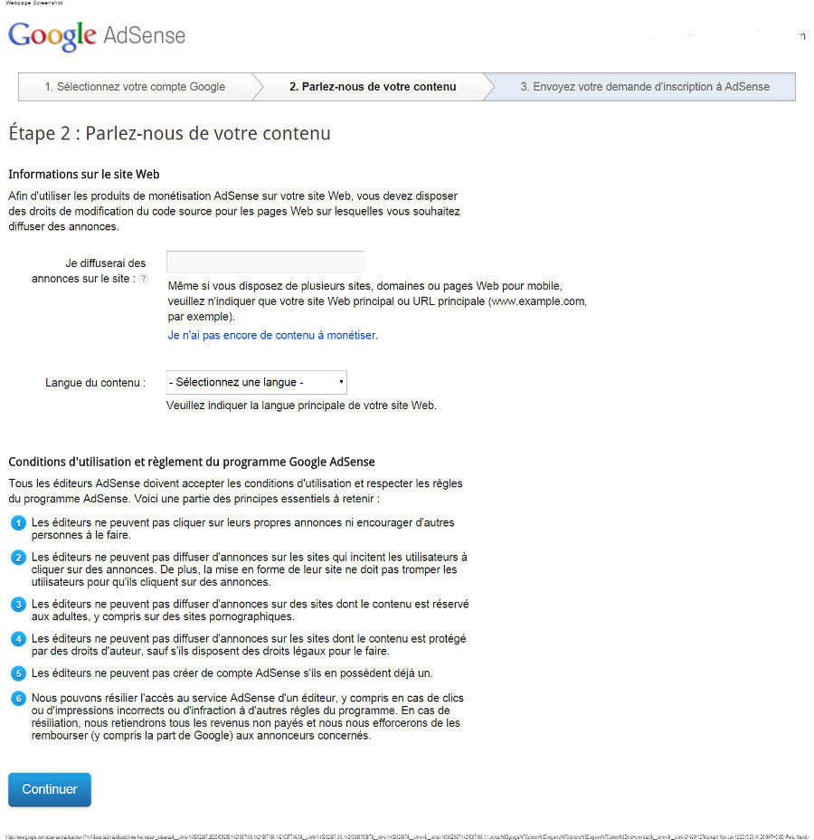 zoom zoom  small Google AdSense   Parlez-nous de votre contenu