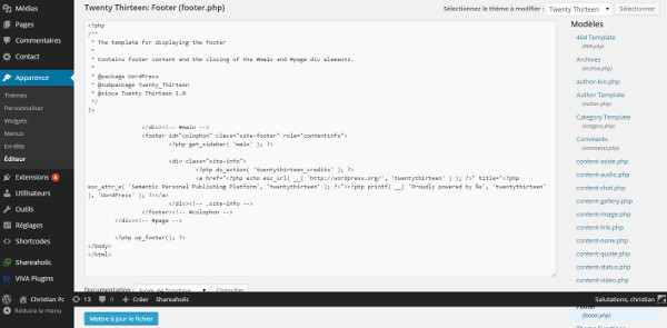 Modifier-le-footer-wordpress-ChristianPc.fr