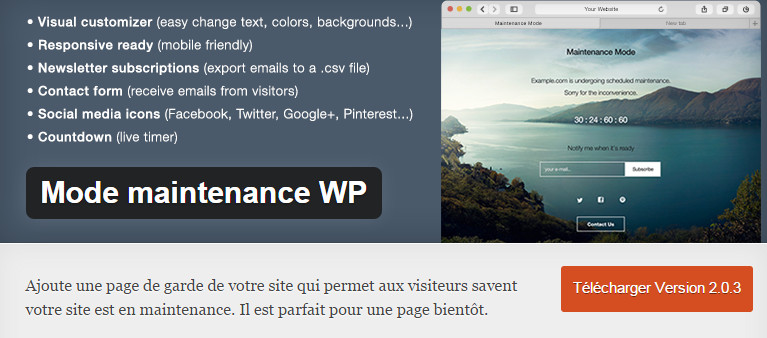 WordPress-Mode maintenance-WP-christianpc.fr