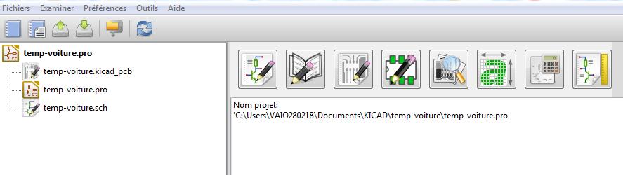 Tuto Kicad Etape 1 Créer un projet