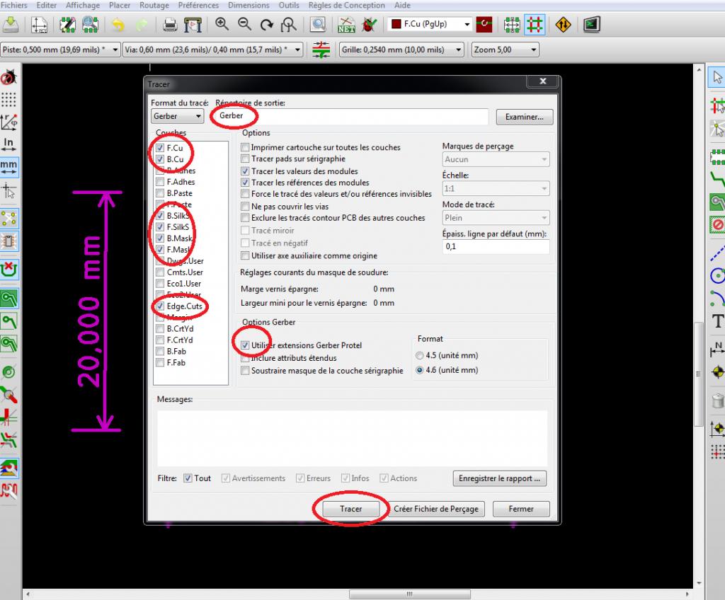 Tuto Kicad Etape 4 Fabriquer le PCB